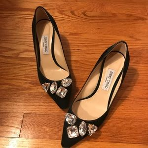Jimmy Choo Green Velvet Shoes